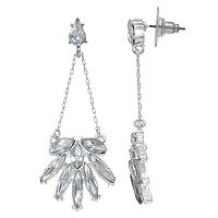 LC Lauren Conrad Marquise Cluster Chandelier Earrings