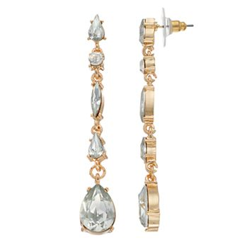 LC Lauren Conrad Geometric Stone Linear Drop Earrings