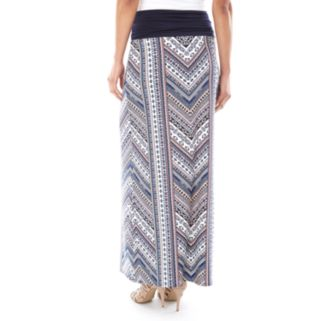 Women's AB Studio Print Maxi Skirt