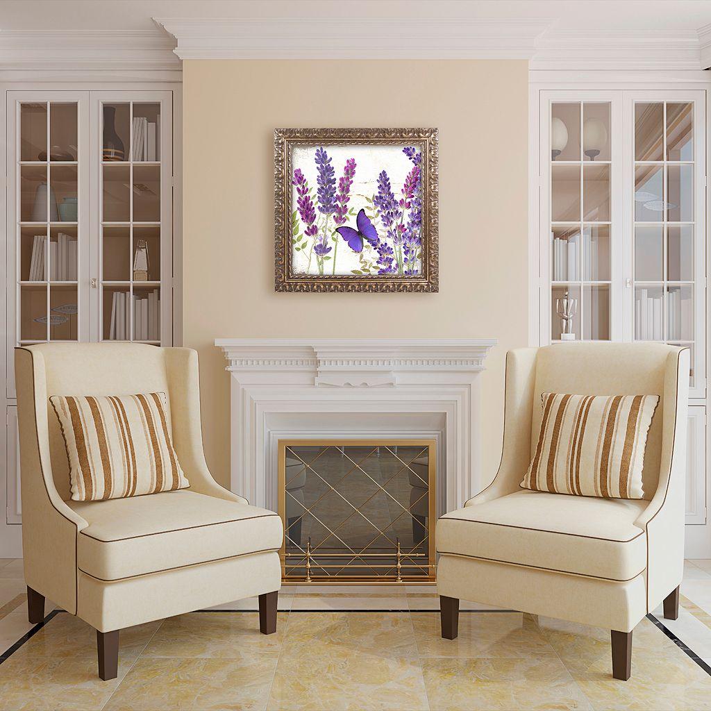 Trademark Fine Art Lavender I Ornate Framed Wall Art