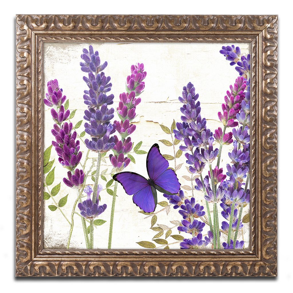 Trademark Fine Art Lavender I Ornate Framed Wall Art