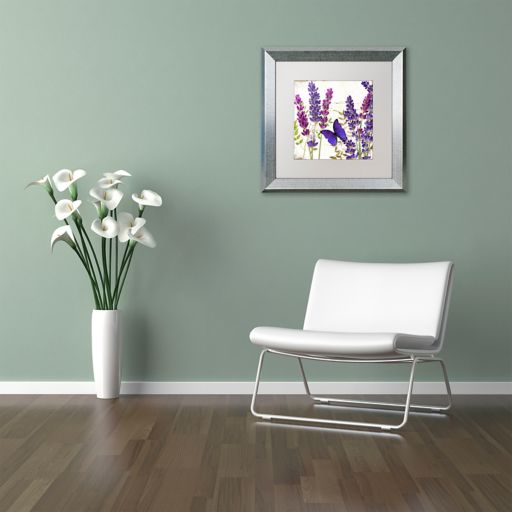 Trademark Fine Art Lavender I Silver Finish Framed Wall Art