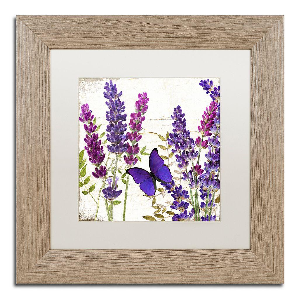 Trademark Fine Art Lavender I Distressed Framed Wall Art