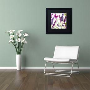 Trademark Fine Art Lavender II Black Framed Wall Art