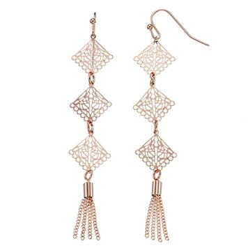 LC Lauren Conrad Tassel Filigree Nickel Free Linear Drop Earrings