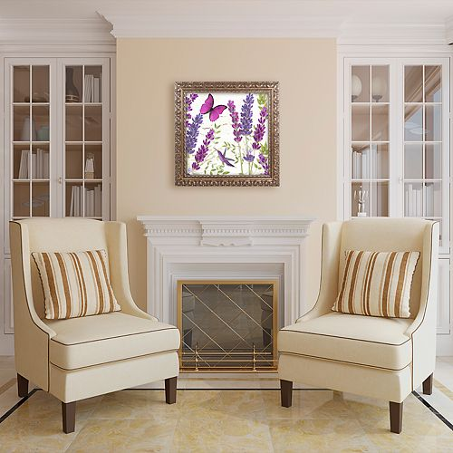Trademark Fine Art Lavender II Ornate Framed Wall Art