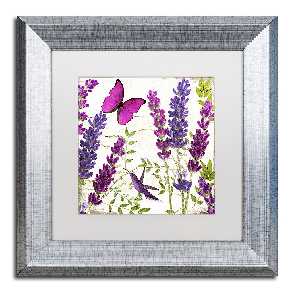 Trademark Fine Art Lavender II Silver Finish Framed Wall Art