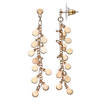 LC Lauren Conrad Shaky Disc Linear Drop Earrings