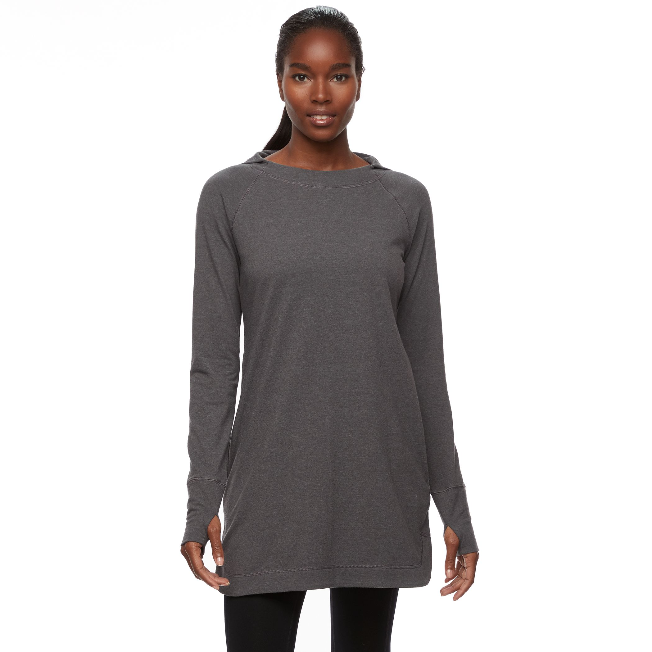 Maxi dress long sleeve zip detail