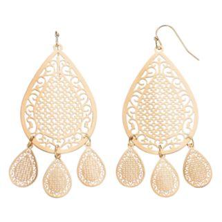 LC Lauren Conrad Filigree Teardrop Earrings