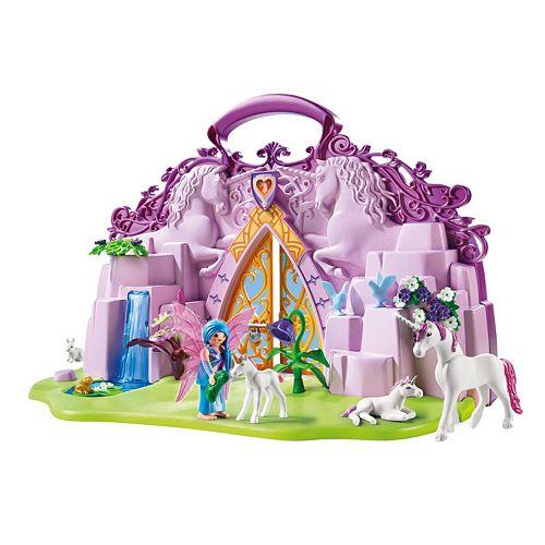 playmobil take along fairy unicorn garden playset  6179