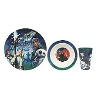 Star Wars: Episode VIII The Last Jedi 3-pc. Melamine Dinnerware Set by JB Disney Home