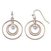 LC Lauren Conrad Cubic Zirconia Orbital Circle Drop Earrings
