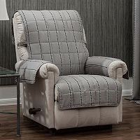Ron Chereskin Reversible Diamond Stripe Recliner or Wing Chair Slipcover