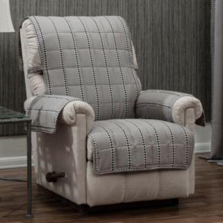 Ron Chereskin Reversible Diamond Stripe Recliner or Wing Chair Slipcover
