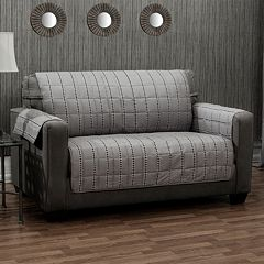 Ron Chereskin Reversible Diamond Stripe Sofa Slipcover