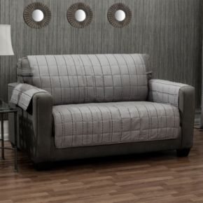 Ron Chereskin Reversible Diamond Stripe Sofa Slipcover