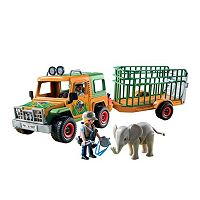 Playmobil Ranger's Truck with Elephant Playset - 6937