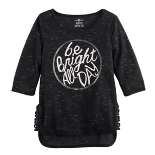 Girls 7-16 SO® Lace-Up Side Graphic Tunic