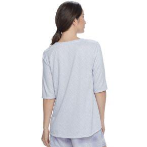 Women's Croft & Barrow® Pajamas: Whispery Clouds Elbow Sleeve Top