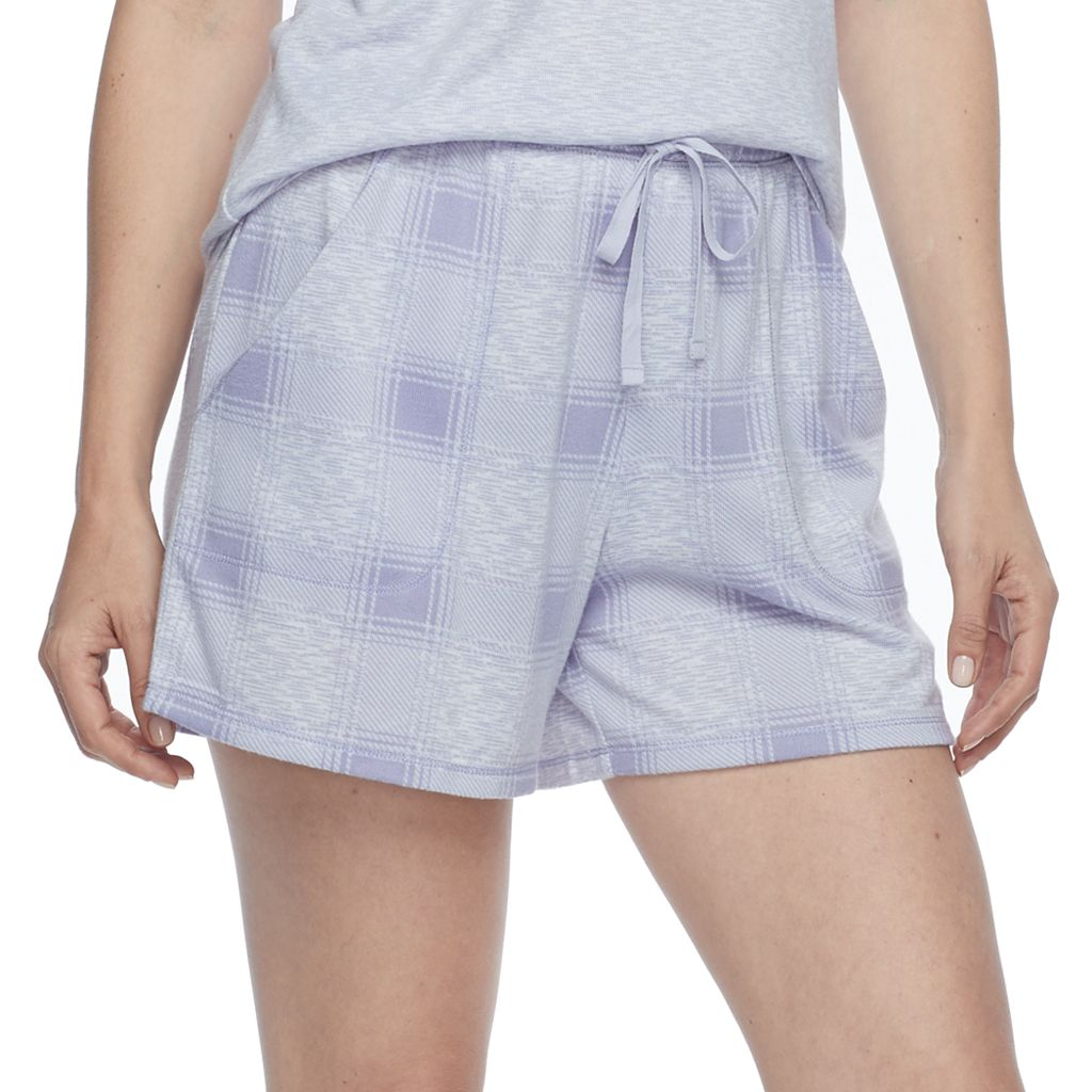 Women's Croft & Barrow® Pajamas: Whispery Clouds Boxer Shorts