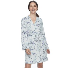 Women's Croft & Barrow® Whispery Clouds Kimono Robe