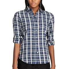 Women's Chaps Plaid Twill Shirt