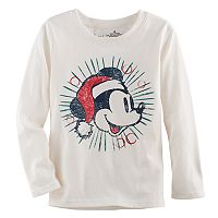 Disney's Mickey Mouse Boys 4-10 Santa Hat Softest Tee by Jumping Beans®