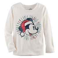 Disney's Mickey Mouse Baby Boy Santa Hat Softest Tee by Jumping Beans®