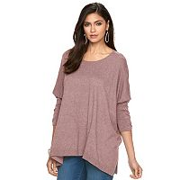 Petite Jennifer Lopez Lace-Up Dolman Caftan Sweater