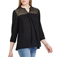 Women's Chaps Lace-Yoke Peasant Top