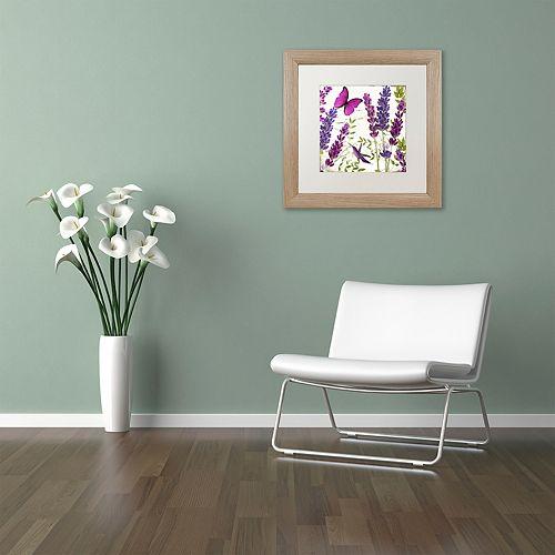 Trademark Fine Art Lavender II Distressed Framed Wall Art