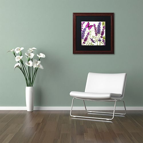 Trademark Fine Art Lavender II Framed Wall Art