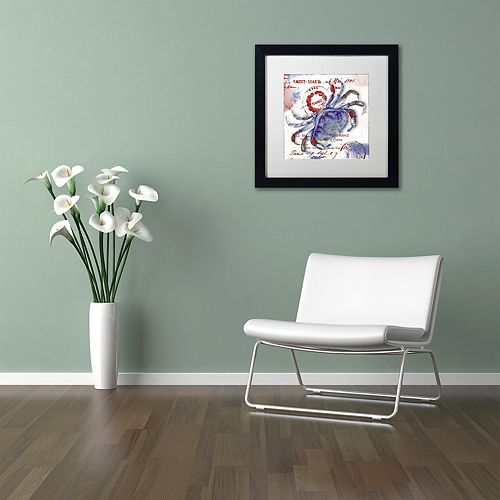 Trademark Fine Art Oceania I Black Framed Wall Art
