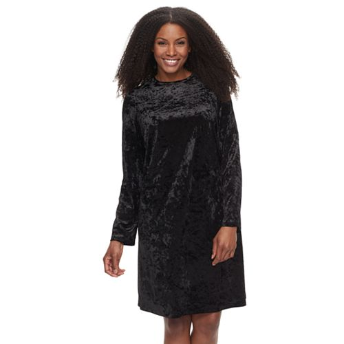 Plus Size Suite 7 Velvet Shift Dress