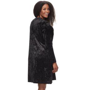 Plus Size Suite 7 Velvet Shift Dress