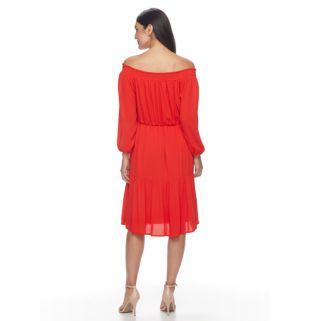Women's Hope & Harlow Off-the-Shoulder Crinkle Dress