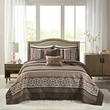 Madison Park 5-piece Dartmouth Jacquard Bedspread Set
