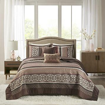 Madison Park 5-piece Dartmouth Jacquard Bedspread Set