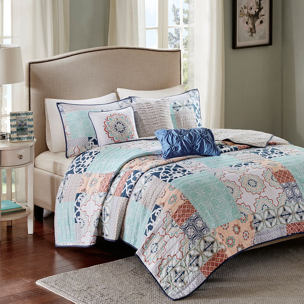 Madison Park 6-piece Sevilla Quilted Coverlet Set