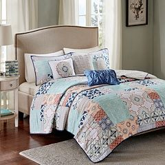 Madison Park 6 pc Sevilla Quilted Coverlet Set