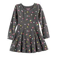 Toddler Girl Jumping Beans® Print Seamed Dress