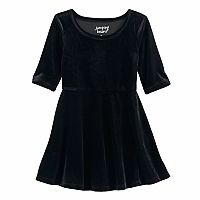 Toddler Girl Jumping Beans® Velvet Skater Dress