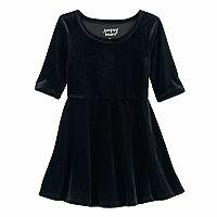 Toddler Girl Jumping Beans® Velvet Skater Dress