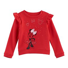 Disney's' Minnie Mouse Toddler Girl Ruffled Fleece Pullover by Jumping Beans®