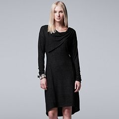 Women's Simply Vera Vera Wang Asymmetrical Drapeneck Dress