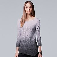 Women's Simply Vera Vera Wang Ombre Asymmetrical Crewneck Sweater