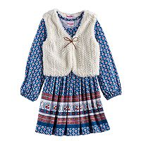 Girls 4-6x Nannette Printed Dress & Vest Set