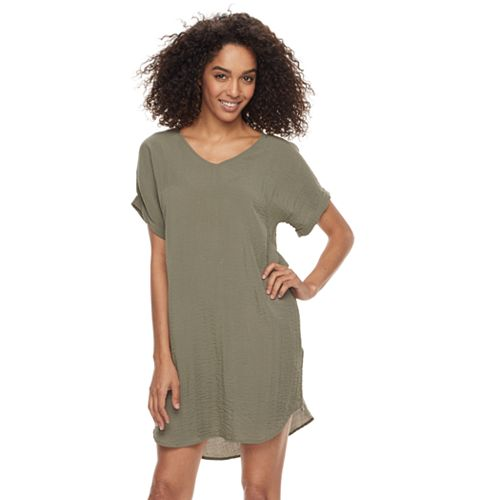 Women's Sharagano Crinkled Shift Dress