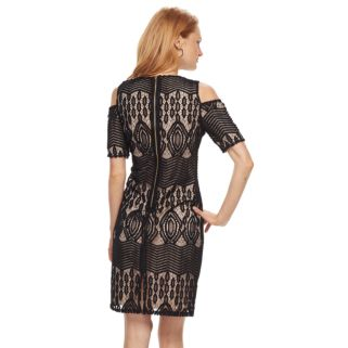Women's Sharagano Cold-Shoulder Lace Dress